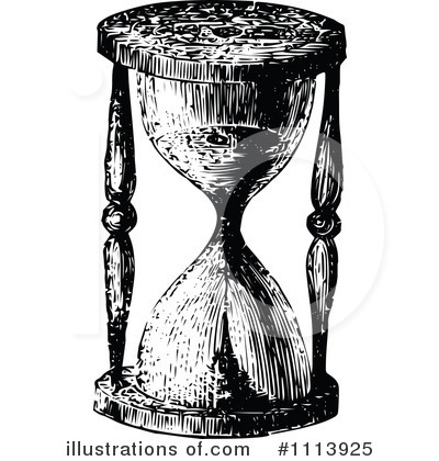 Hourglass clipart vintage. Illustration by prawny
