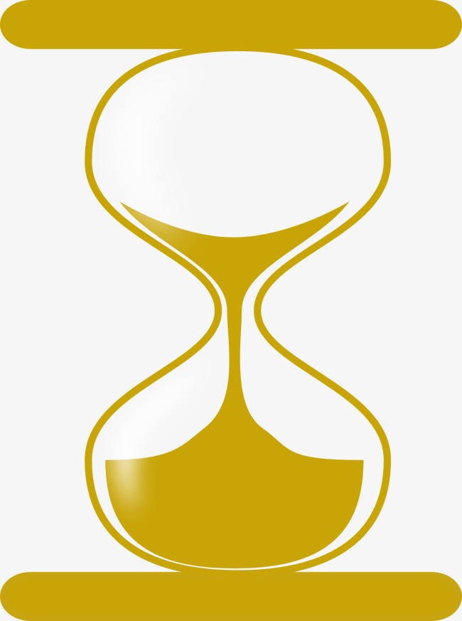 Decoration png image . Hourglass clipart yellow