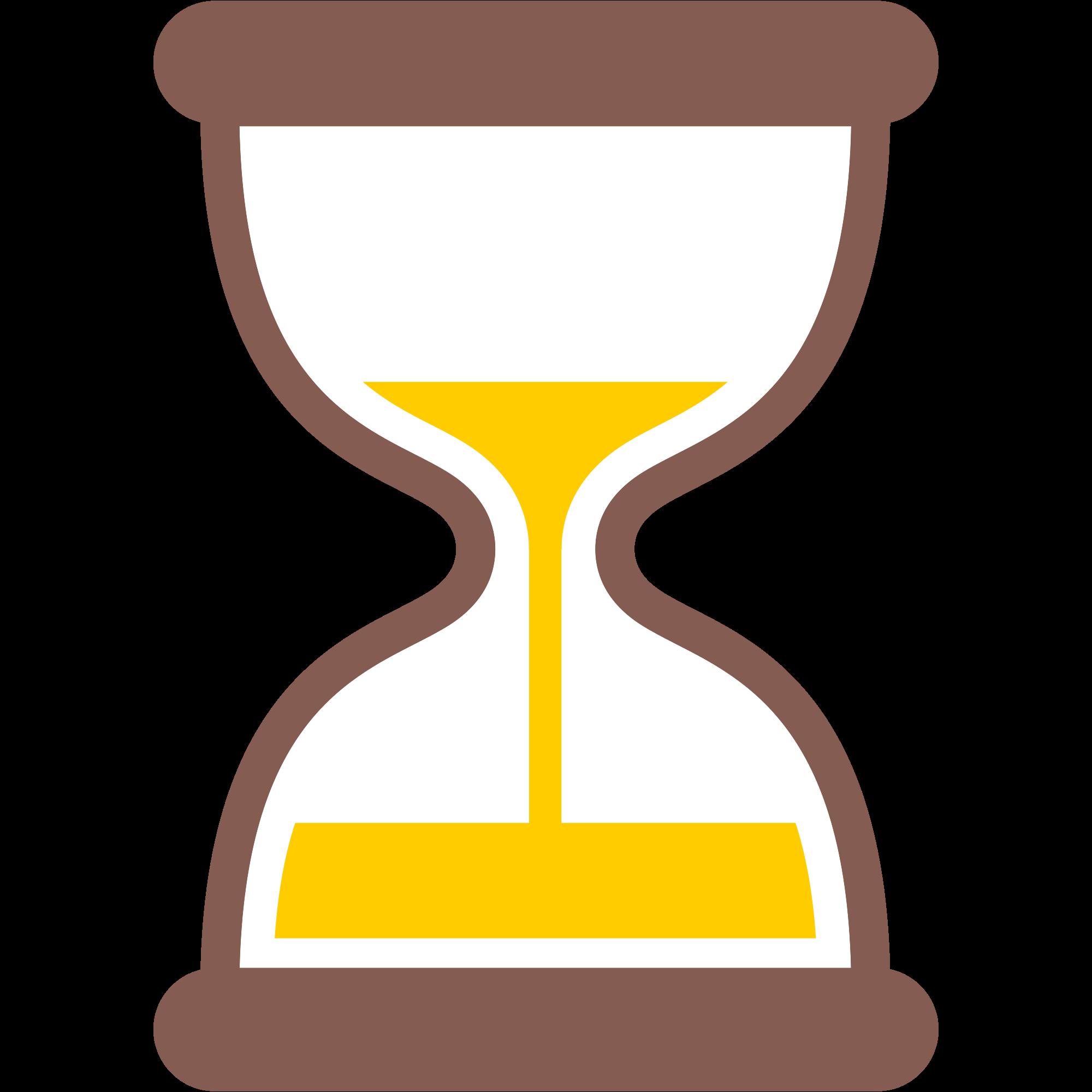 File emoji u f. Hourglass clipart yellow
