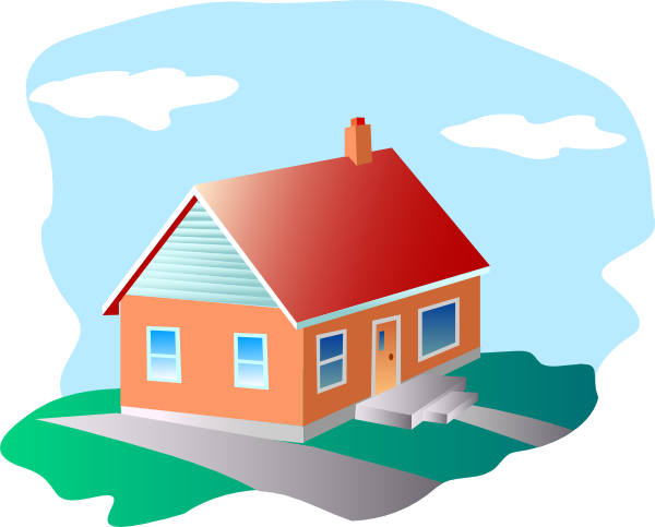With blue sky clip. House cartoon png