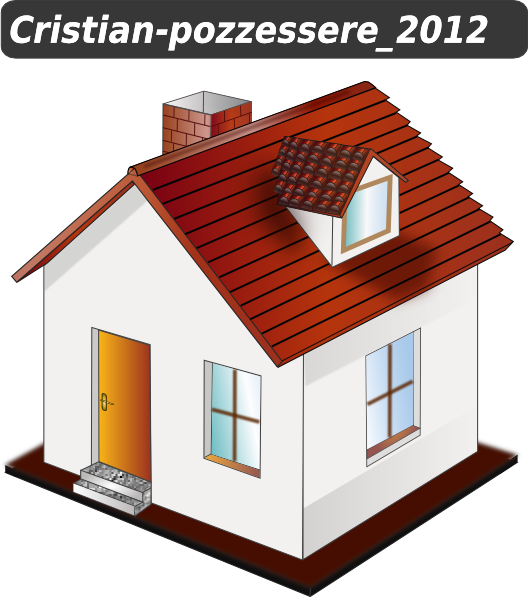 House clipart. With yellow clip art