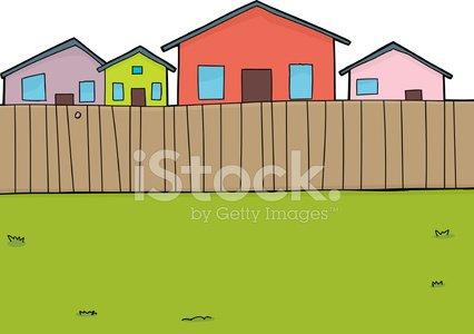 Suburban background premium clipartlogo. House clipart backyard