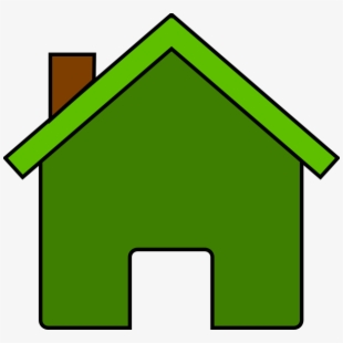 House clipart colored. Green clip art free