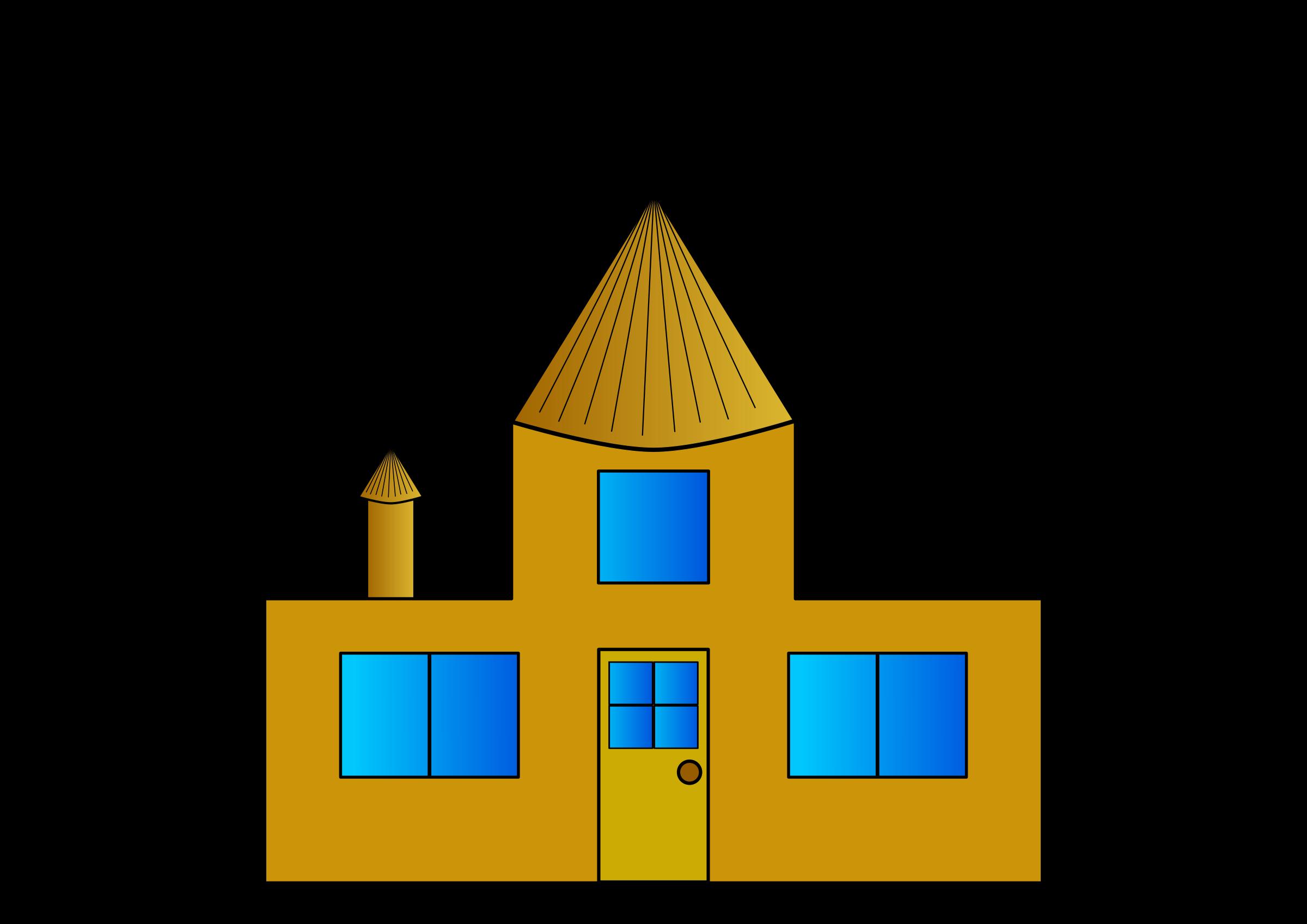 House clipart diagram. Golden big image png