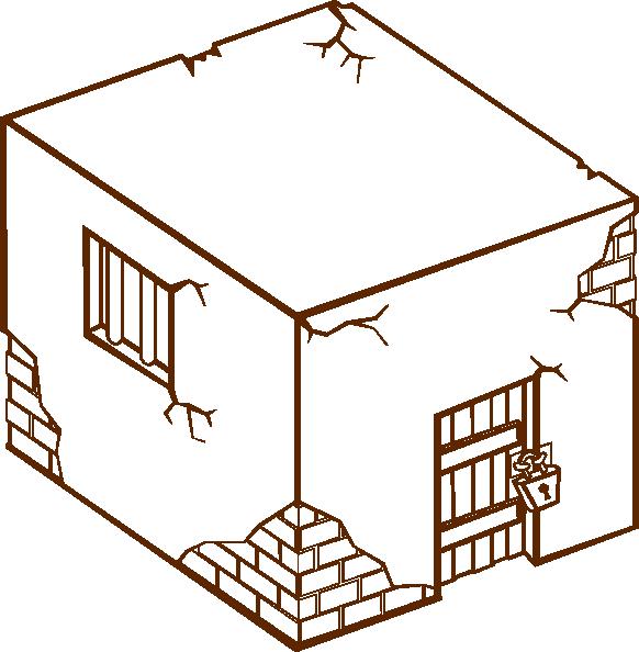 House clipart diagram. Jailhouse clip art at