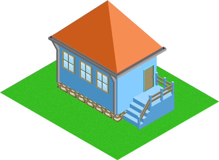 House clipart diagram. Isometric model by andre