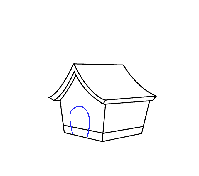 House clipart diagram. How to draw a