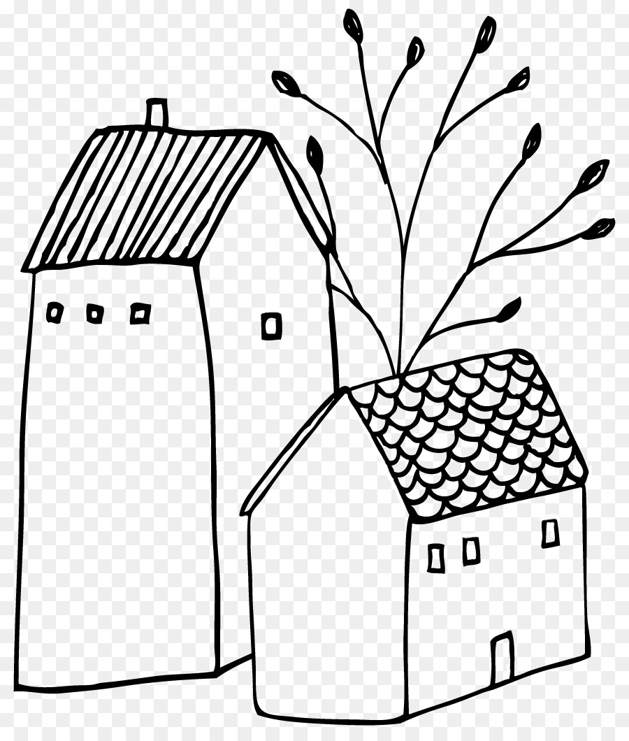 Drawing tree transparent . House clipart doodle