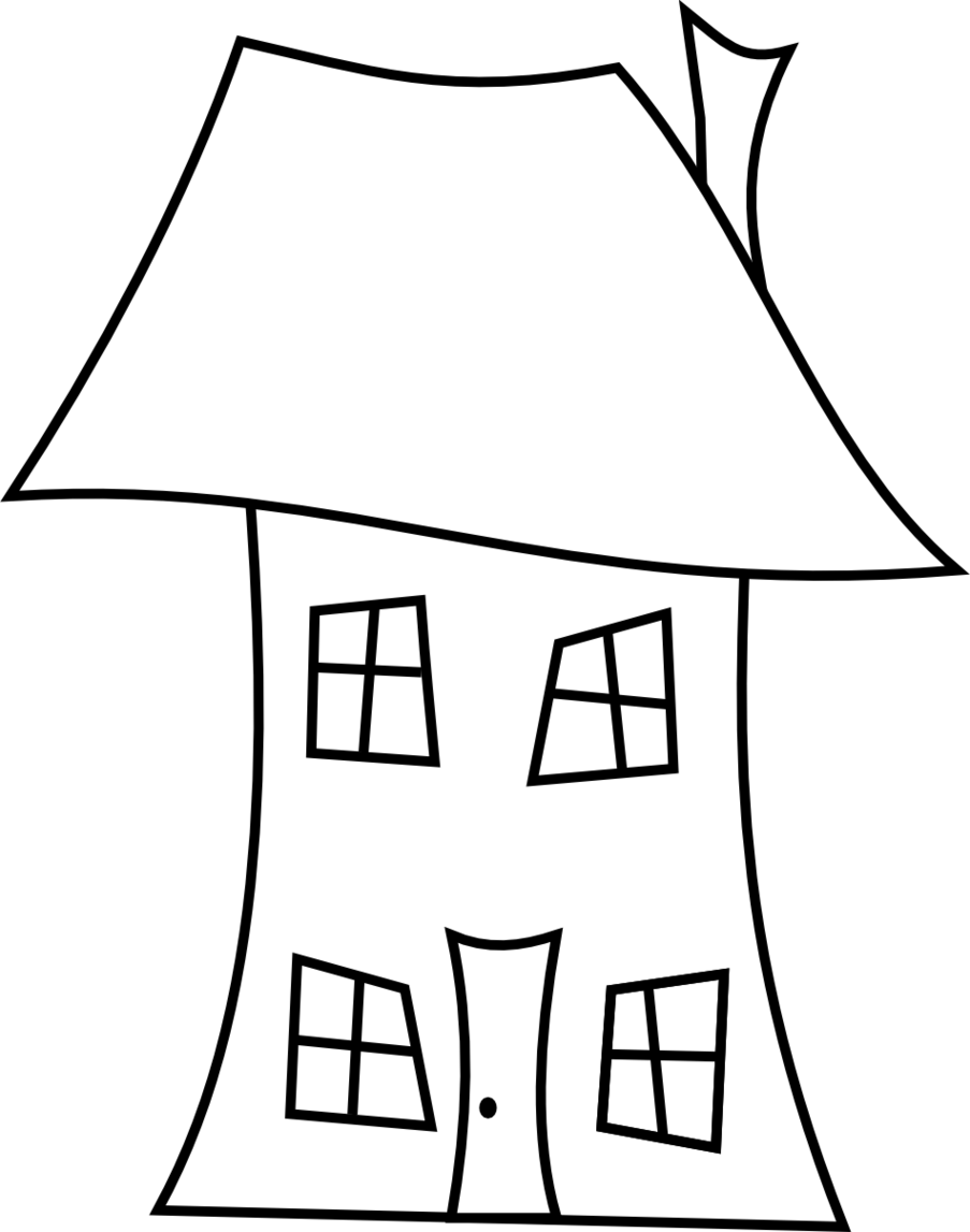 Line drawing best cartoon. House clipart dream house