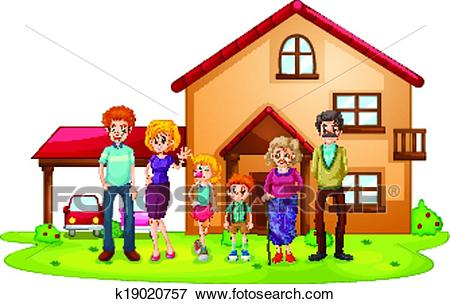 Station . House clipart family