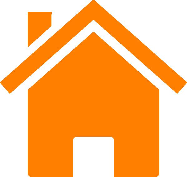 House clipart orange. Simple clip art at