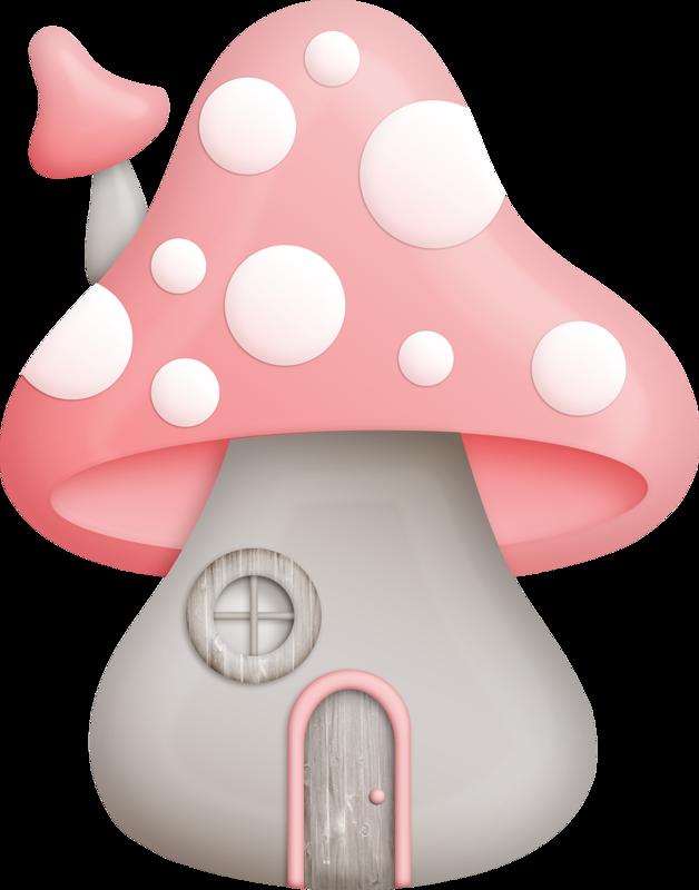 Mushrooms clipart fairy mushroom. House adorable clip art