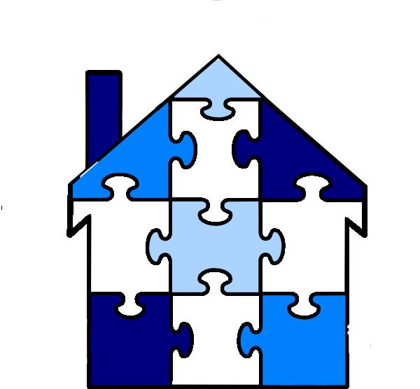 House clipart puzzle. Pieces clip art at