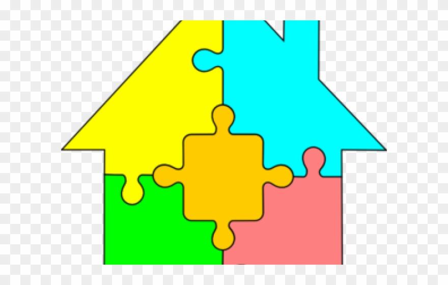 Clip art png download. Puzzle clipart house