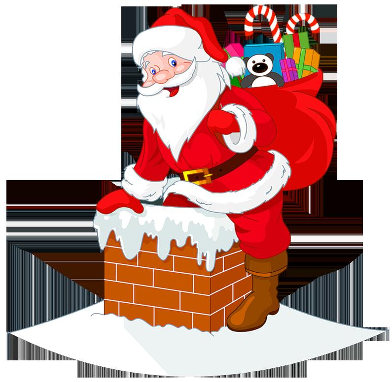 House clipart santas. Santa claus clip art