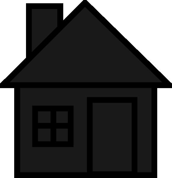 Blackhouse clip art at. Black house png