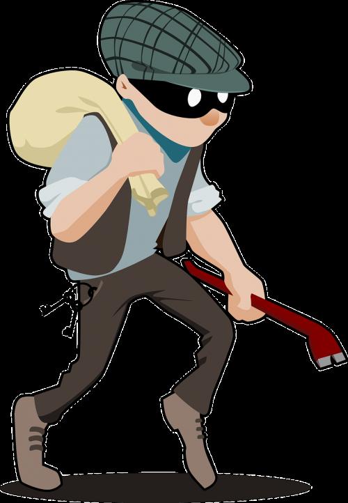 Burglar thief robber robbery. House clipart theft