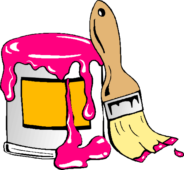 Everything pink clip art. House clipart tools