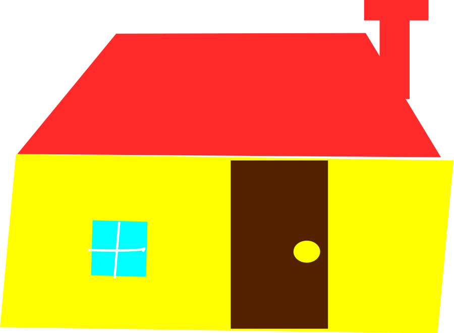 Free art download clip. House clipart vector
