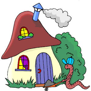 Cliparts zone . House clipart worm