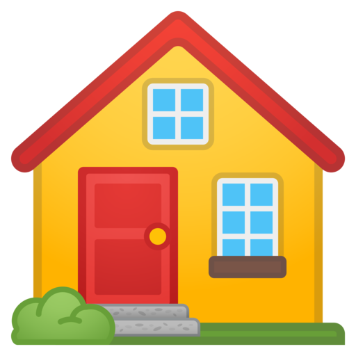 House emoji png.  google android oreo