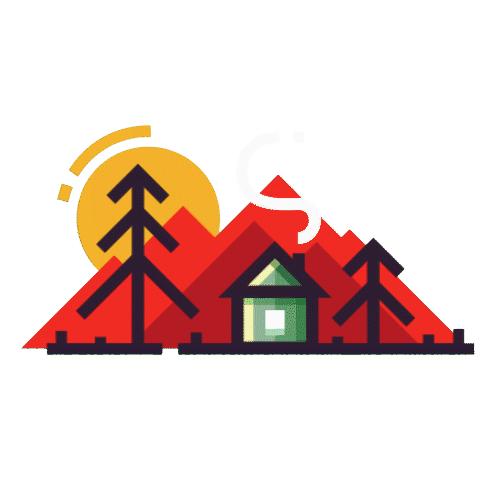 Motion design animation graphics. House graphic png