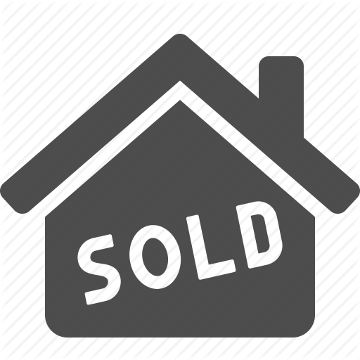 House sold png. Real estate set by