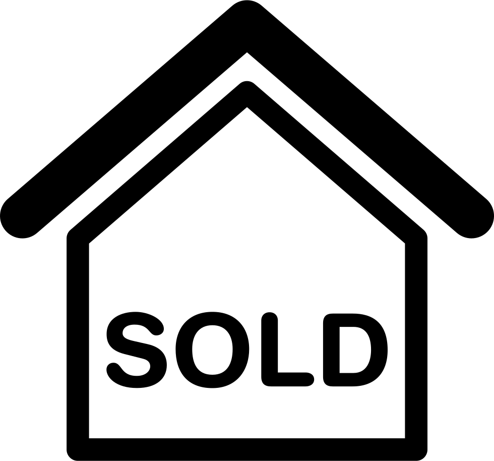 House sold png. Sign svg icon free