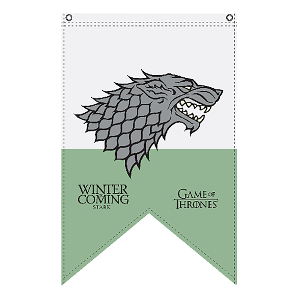Game of thrones pennant. House stark png