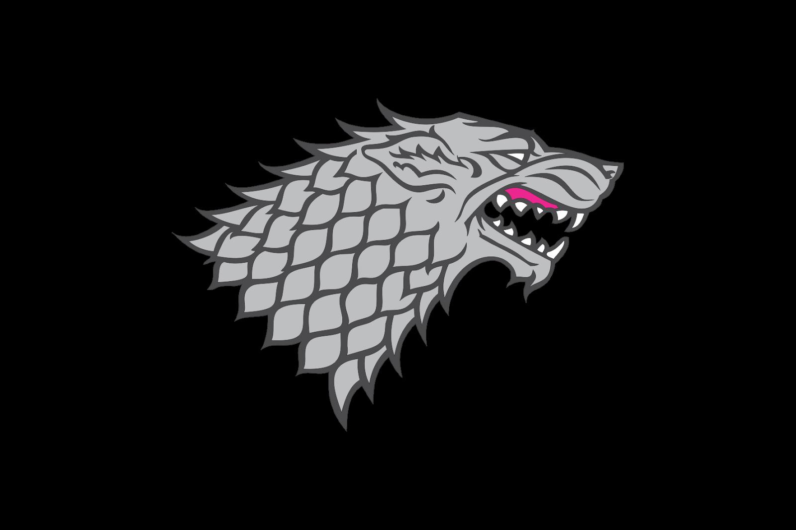 Eddard bran logo silver. House stark png