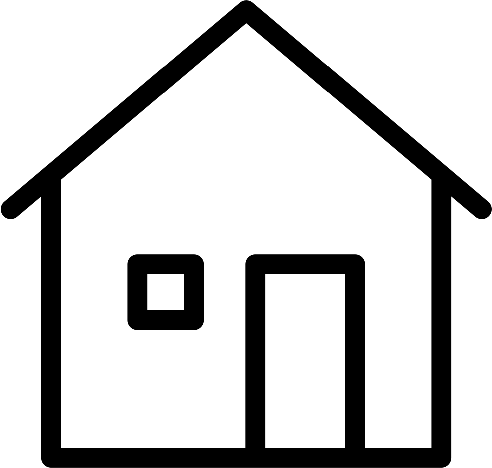Thin home building svg. House symbol png