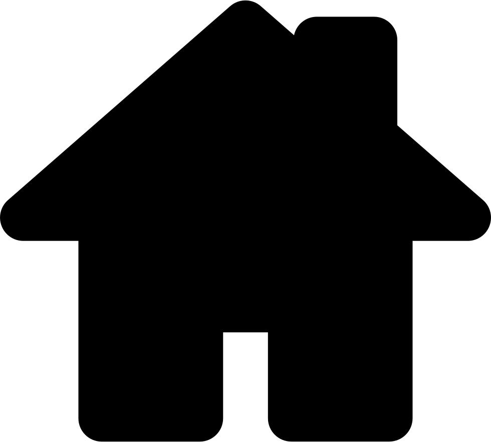 House symbol png. Black shape for home