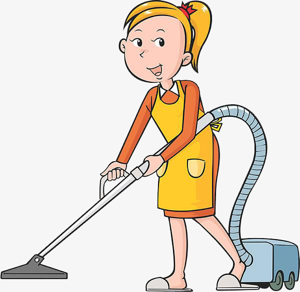 Cleaning aunt of the. Housekeeping clipart