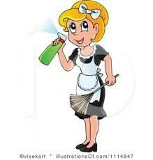 Home cleaning service year. Housekeeping clipart