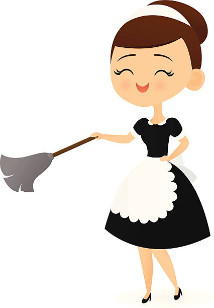 Housekeeping clipart abject. Maid full energy transparent