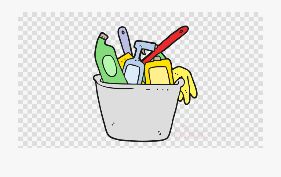 Housekeeping clipart all purpose clean. Cleaning supplies transparent red