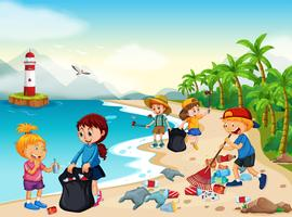 A set of cleaning. Housekeeping clipart beach