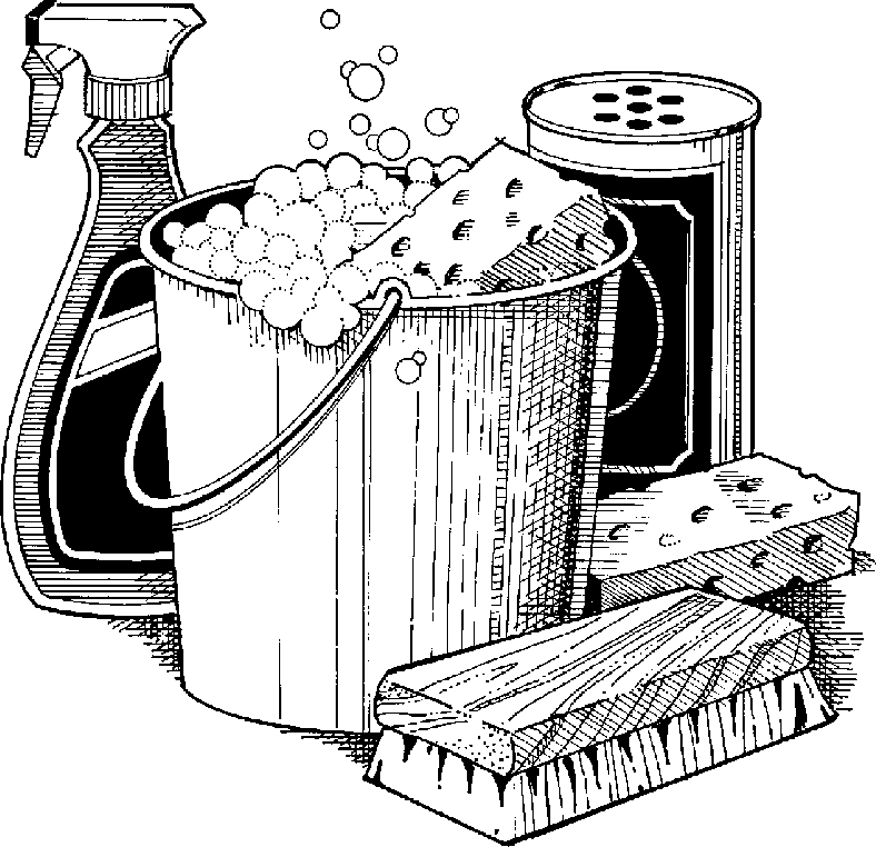Housekeeper clip art . Housekeeping clipart black and white