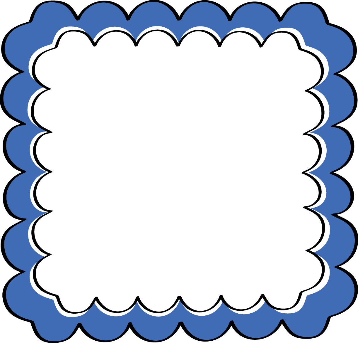 Formal frames and borders. Housekeeping clipart border