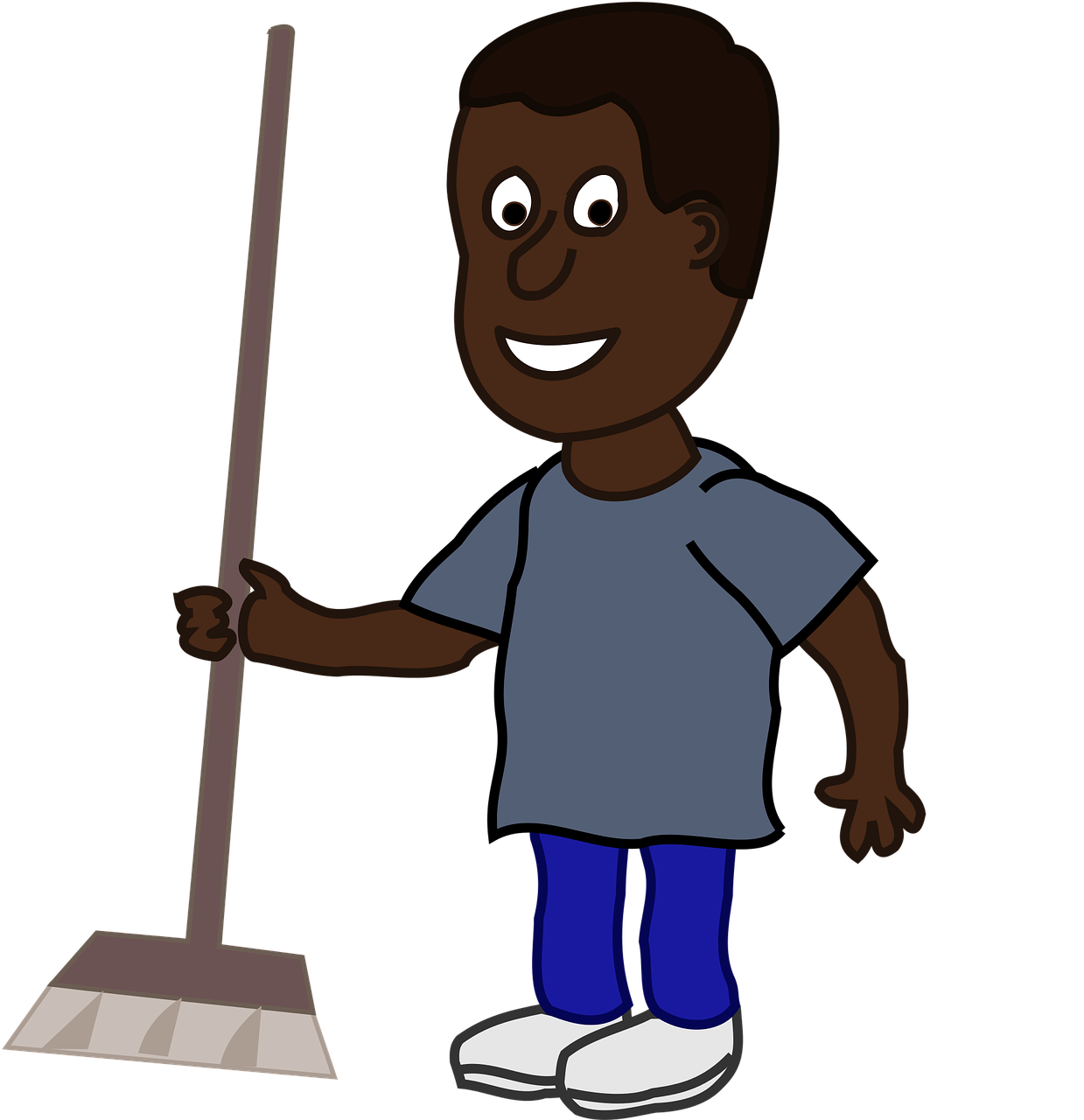 Cleaning clip art afro. Housekeeping clipart broom
