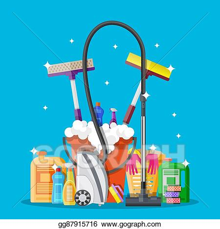 Housekeeping clipart car wash supply. Vector art poster design