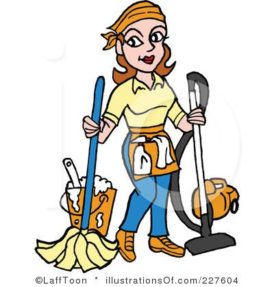 Royalty free rf . Housekeeping clipart cartoon