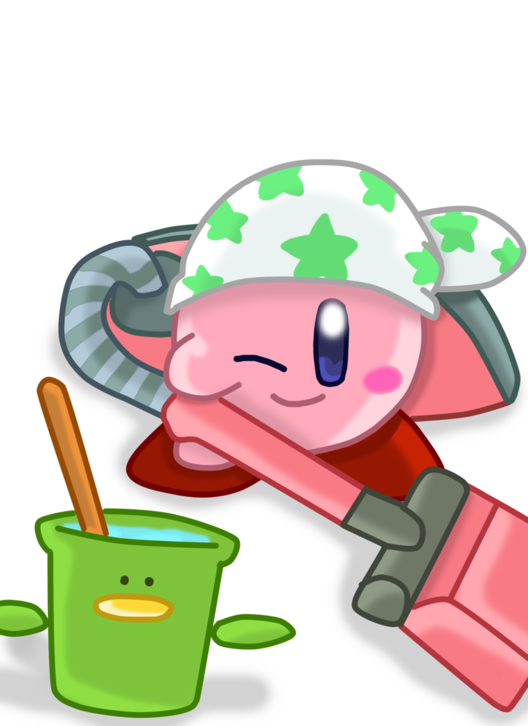 Cleaning kirby by brownkirbyfun. Housekeeping clipart clean hand