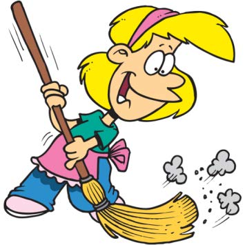 House cleaning list . Housekeeping clipart clean lab