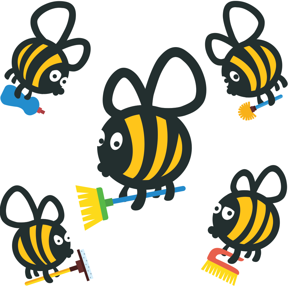 Bees llc . Housekeeping clipart cleaning bee