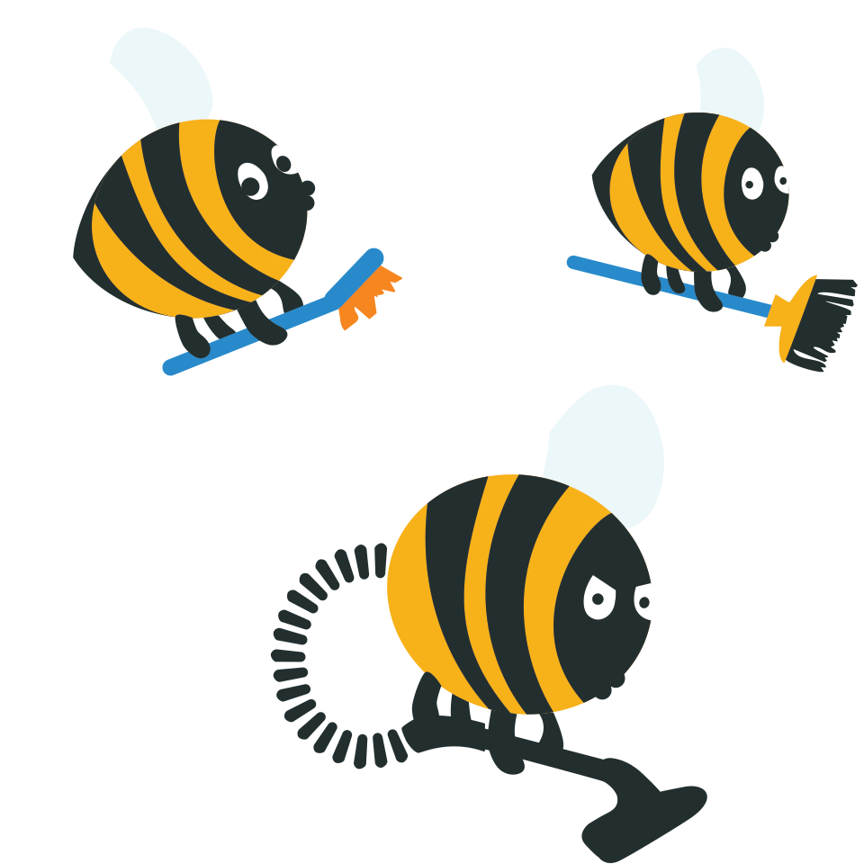 Housekeeping clipart cleaning bee. Bees llc