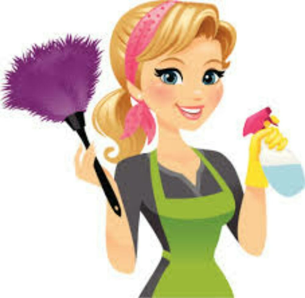Maid clipart office cleaning services. Lady free download best