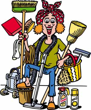 housekeeping clipart clening