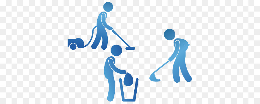Housekeeping clipart commercial cleaning. Hand cartoon janitor blue