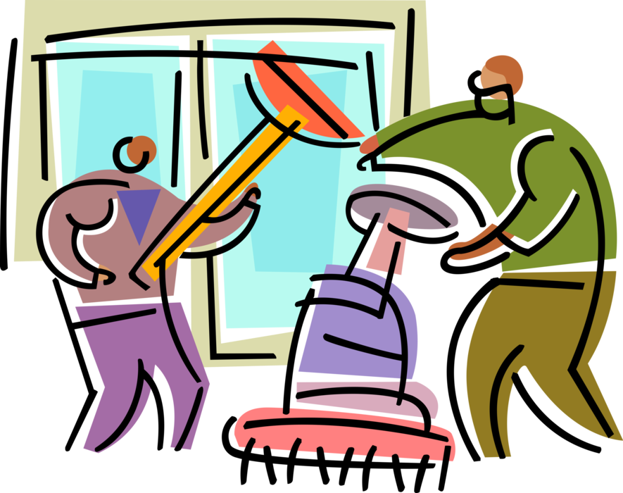 Housekeeping clipart custodial. Office maintenance worker cleaners